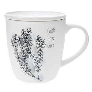 Faith Hope Cure by Faith Hope and Healing - 17 oz Cup with Coaster Lid