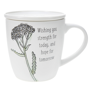 Strength for Today by Faith Hope and Healing - 17 oz Cup with Coaster Lid