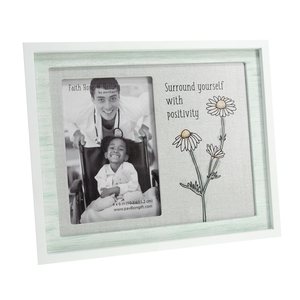 "Positivity by Faith Hope and Healing - 9.75"" x 8.25"" Frame (Holds 4"" x 6"" Photo)"