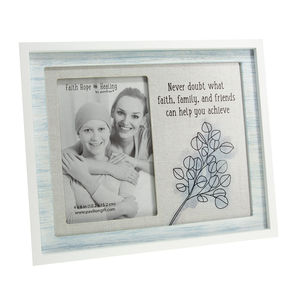 "Never Doubt by Faith Hope and Healing - 9.75"" x 8.25"" Frame (Holds 4"" x 6"" Photo)"