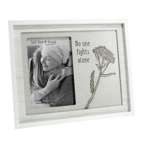 "No One Fights Alone by Faith Hope Healing - 9.75"" x 8.25"" Frame (Holds 4"" x 6"" Photo)"