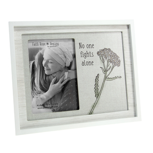 "No One Fights Alone by Faith Hope and Healing - 9.75"" x 8.25"" Frame (Holds 4"" x 6"" Photo)"