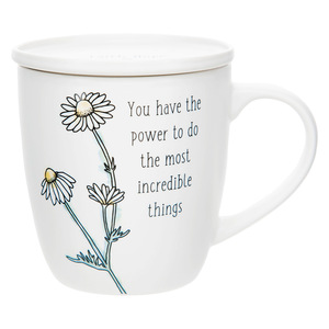 Incredible Things by Faith Hope and Healing - 17 oz Cup with Coaster Lid