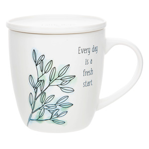 Fresh Start by Faith Hope and Healing - 17 oz Cup with Coaster Lid