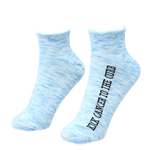 Kick Cancer by Faith Hope and Healing - Low Cut, Moisturizing Gel Socks Scent: Light Lavender
