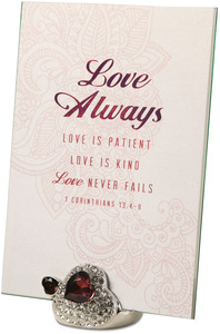 "Love Always by Simply Shining - 5""x7"" Jeweled Photo Frame"