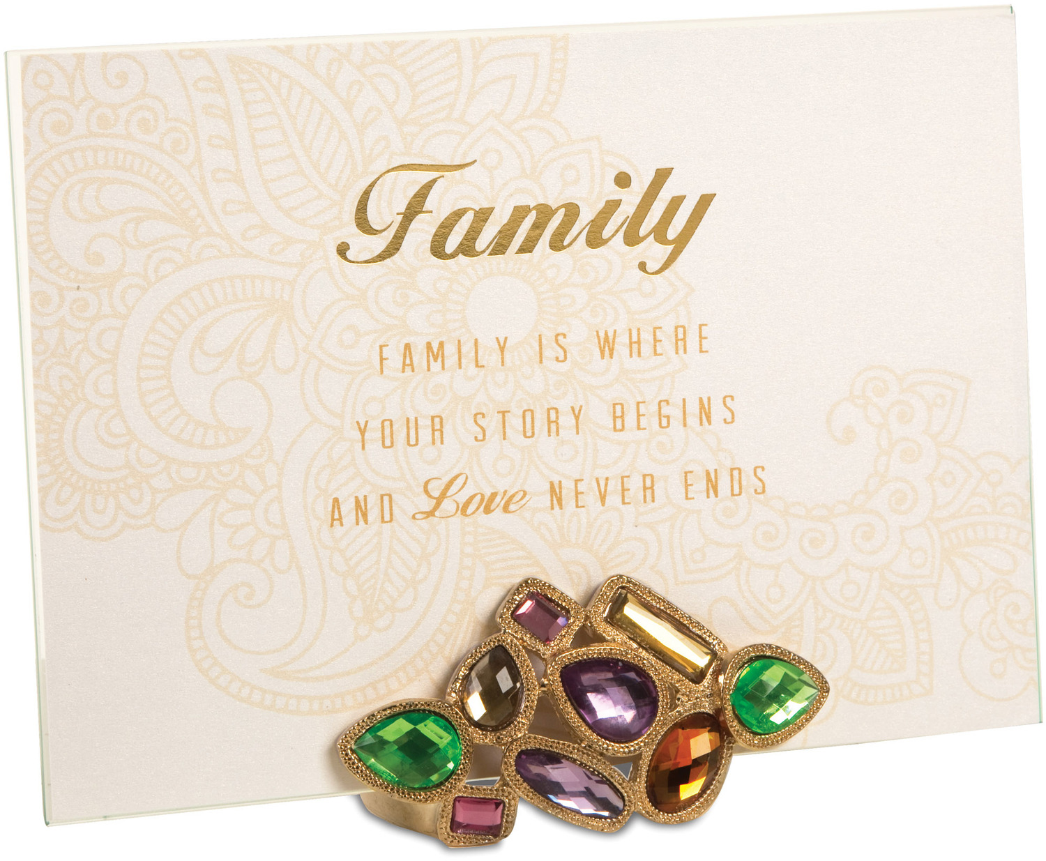 "Family by Simply Shining - Family - 5""x7"" Jeweled Photo Frame"