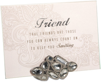 "Friend by Simply Shining - 5""x7"" Jeweled Photo Frame"