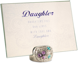 "Daughter by Simply Shining - 5""x7"" Jeweled Photo Frame"