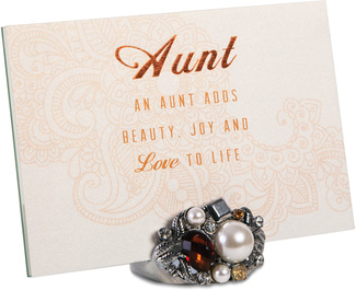 "Aunt by Simply Shining - 4""x6"" Jeweled Photo Frame"