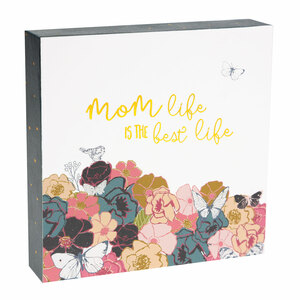 "Mom Life by Heartful Love - 4.5"" x 4.5"" Plaque"