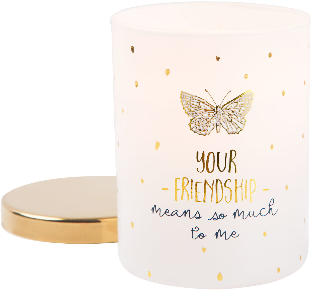 Friendship by Heartful Love - Friendship - 7oz 100% Soy Wax Candle Scent: Fresh Cotton