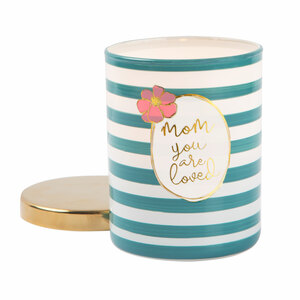 Mom by Heartful Love - 7oz 100% Soy Wax Candle Scent: Fresh Cotton