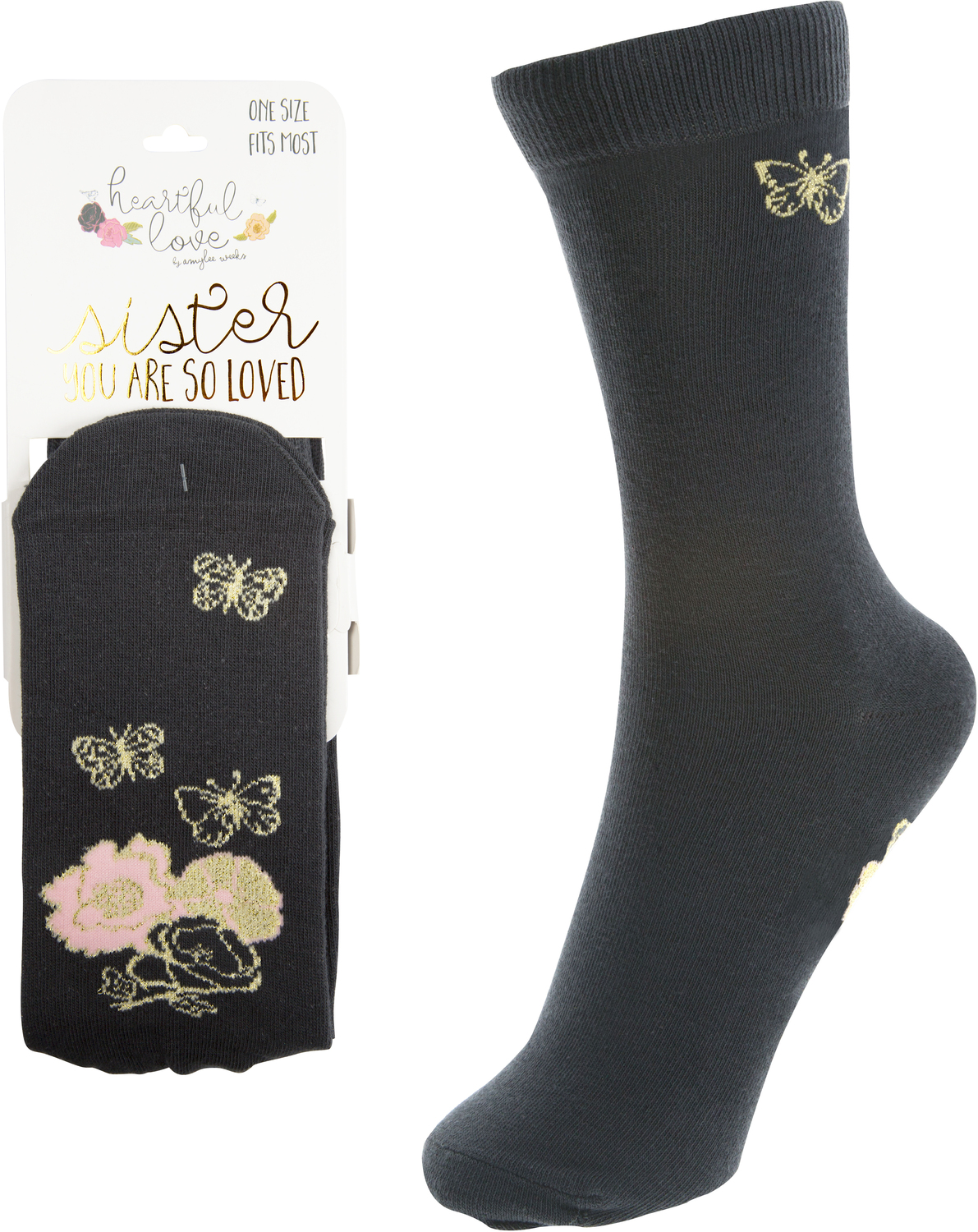 Sister  by Heartful Love - Sister  - Ladies Cotton Blend Sock
