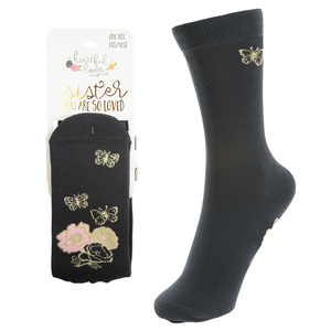 Sister  by Heartful Love - Ladies Cotton Blend Sock