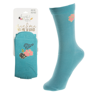 Grandma  by Heartful Love - Ladies Cotton Blend Sock