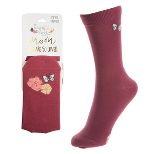 Mom by Heartful Love - Ladies Cotton Blend Sock