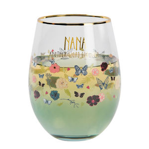 Nana by Heartful Love - 18 oz Stemless Wine Glass