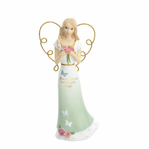 "Grandma by Heartful Love - 6.5"" Angel Holding Flowers"