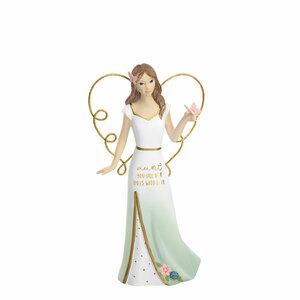 "Aunt by Heartful Love - 5.5"" Angel Holding a Butterfly"