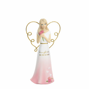 "Daughter by Heartful Love - 5.5"" Angel Holding Flowers"