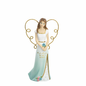 "Nana by Heartful Love - 5.5"" Angel Holding a Flower"