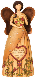 "Guardian Angel by Country Soul - 9"" Angel Holding Heart"