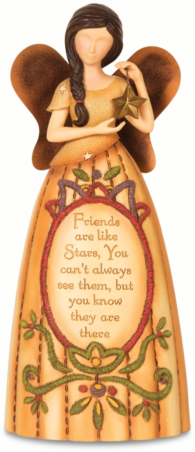 "Friends by Country Soul - Friends - 7.5"" Angel Holding Star"