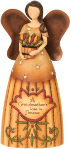 "Grandmother by Country Soul - 6"" Angel Holding Flowers"