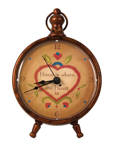 "Home by Country Soul - 7.75"" Round Clock"