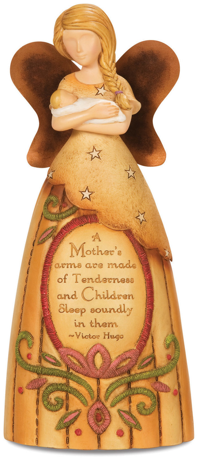 "A Mother's Arms by Country Soul - A Mother's Arms - 7.5"" Angel Holding Baby"