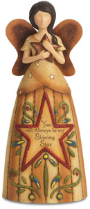 "Shining Star by Country Soul - 7.5"" Angel Holding Star"