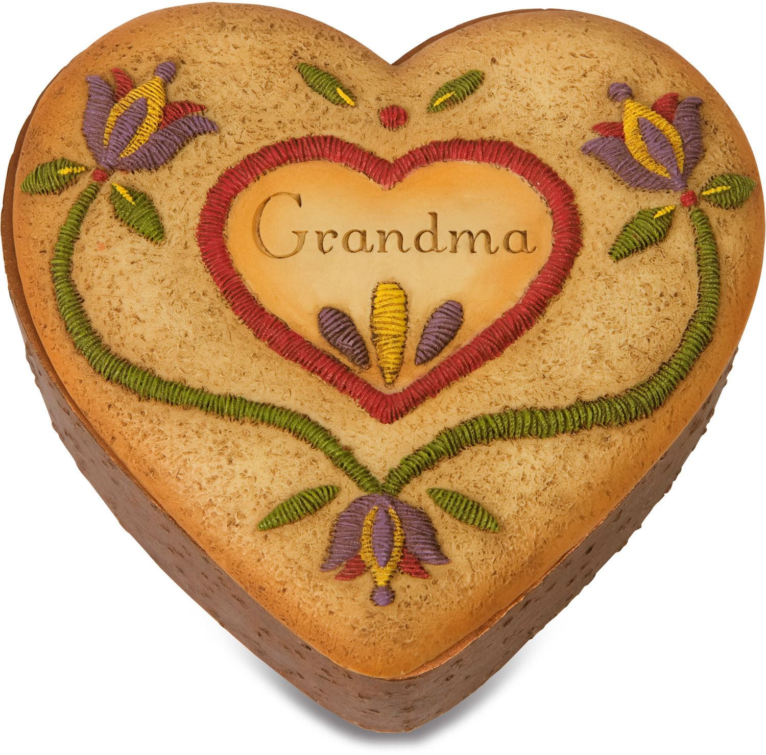 "Grandma by Country Soul - Grandma - 3.5"" x 3.5"" Heart Keepsake Box"
