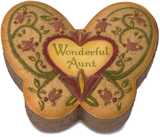"Aunt by Country Soul - 3"" x 3.75"" Butterfly Keepsake Box"