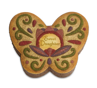 "Sweet Daughter by Country Soul - 3"" x 2.75"" Keepsake Box"