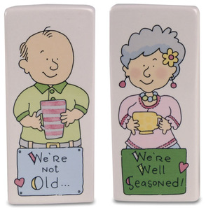 "Well Seasoned by Well Seasoned - 4"" Salt & Pepper Shakers"