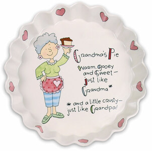 "Grandma's Pie by Well Seasoned - 9"" Pie Plate"