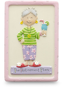 "The Retirement Plan (female) by Well Seasoned - 3"" Magnet"
