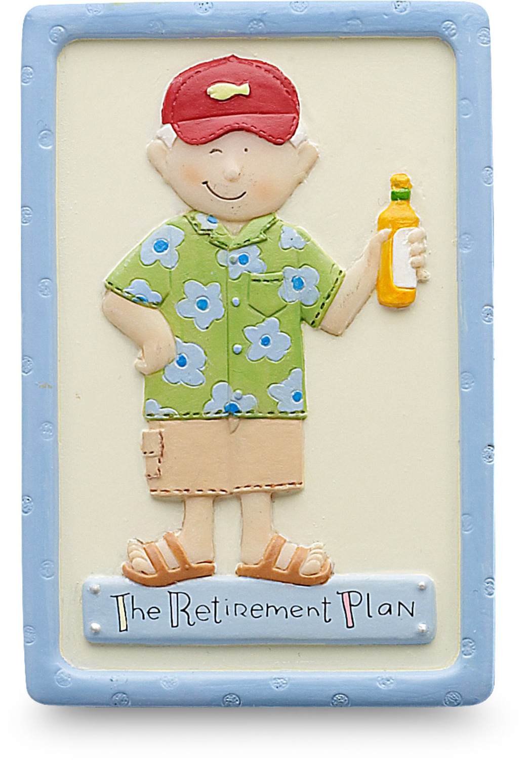 "The Retirement Plan (male) by Well Seasoned - The Retirement Plan (male) - 3"" Magnet"
