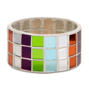 "Mosaic Glass Napkin Ring by Merry Mosaics - 2.25"" Mosaic Glass Napkin Ring (4 pc set)"