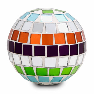 "Mosaic Glass Decorative Ball by Merry Mosaics - Small 2.5"" Mosaic Glass Decorative Ball"