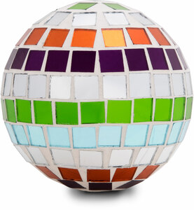 "Mosaic Glass Decorative Ball by Merry Mosaics - Medium 3"" Mosaic Glass Decorative Ball"