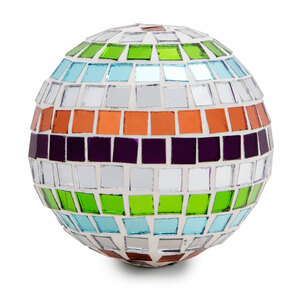 "Mosaic Glass Decorative Ball by Merry Mosaics - Large 3.25"" Mosaic Glass Decorative Ball"