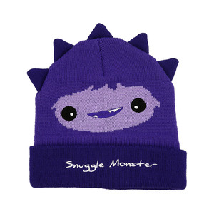 Purple Snuggle Monster by Monster Munchkins - One Size Fits All Baby Hat