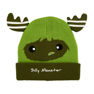 Green Silly Monster by Monster Munchkins - One Size Fits All Baby Hat