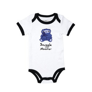 Purple Snuggle Monster by Monster Munchkins - 6-12 Months Bodysuit