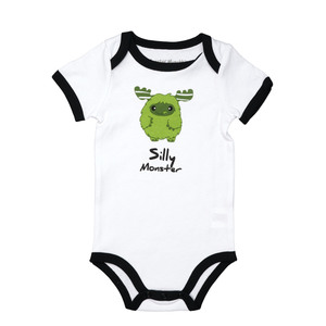 Green Silly Monster by Monster Munchkins - 6-12 Months Bodysuit