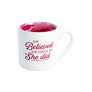 She Believed by Camo Community - 15 oz Mug