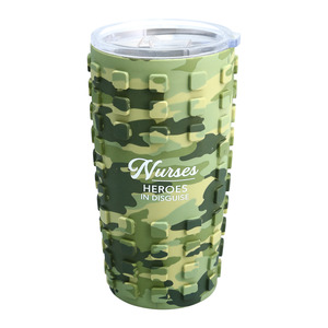 Nurses by Camo Community - 20 oz Travel Tumbler with 3D Silicone Wrap