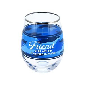Friend by Camo Community - 18 oz Stemless Wine Glass
